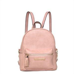 Handbags - Poppies and Peonies Blush Backpack